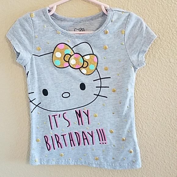 bff2d252 Hello Kitty Shirts & Tops | Birthday Shirt Size 4 | Poshmark